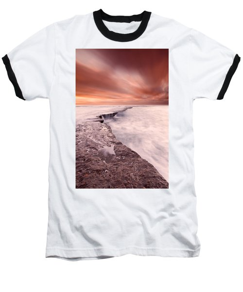 The Edge Of Earth Baseball T-Shirt