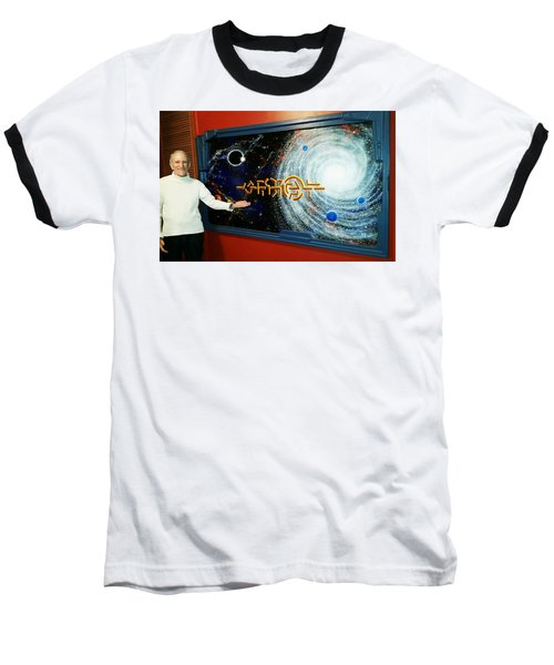 Baseball T-Shirt featuring the painting The  Enigma  Painting by Hartmut Jager