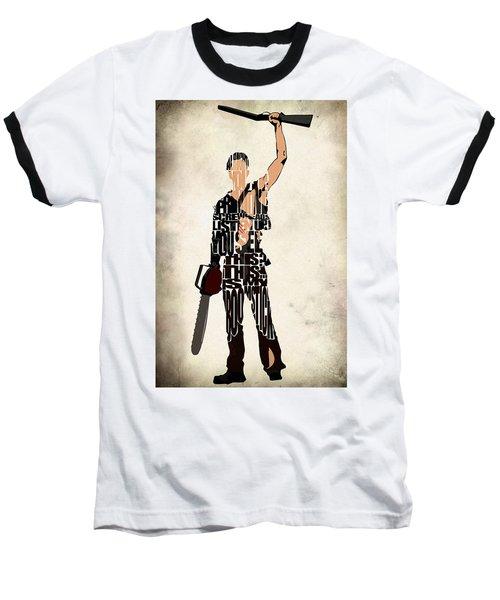 The Evil Dead - Bruce Campbell Baseball T-Shirt
