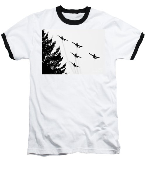 The Fly Past Baseball T-Shirt by Chris Dutton