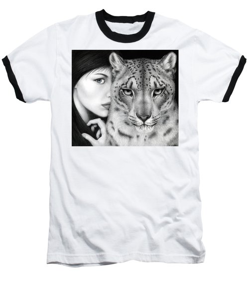 Baseball T-Shirt featuring the painting The Guardian by Pat Erickson