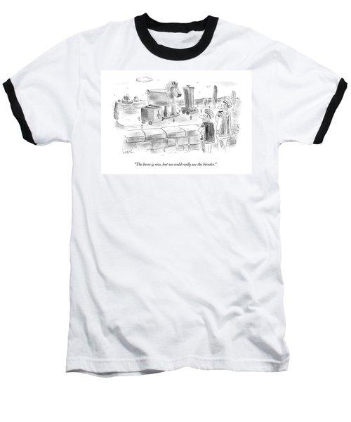 The Horse Is Nice Baseball T-Shirt