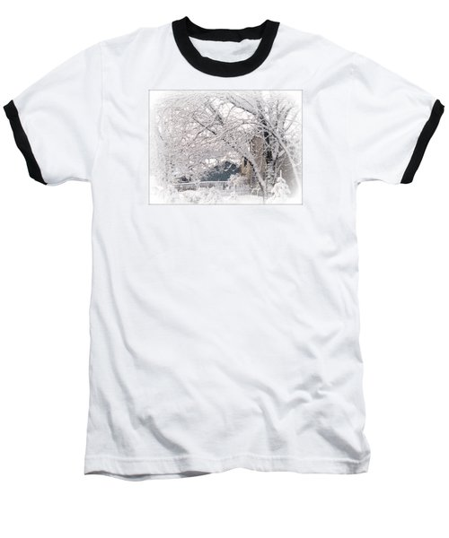 Baseball T-Shirt featuring the photograph The Last Snow Storm by Kay Novy