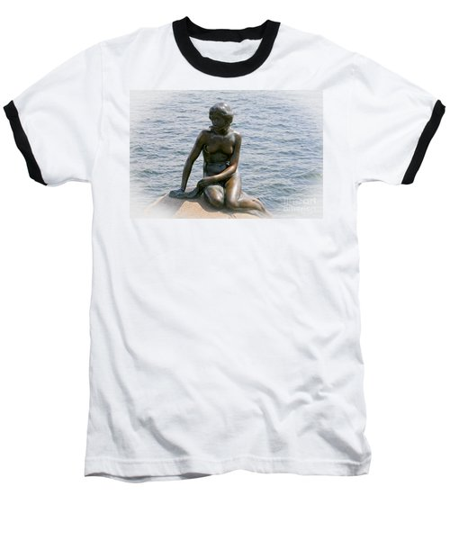 The Little Mermaid Of Copenhagen Baseball T-Shirt