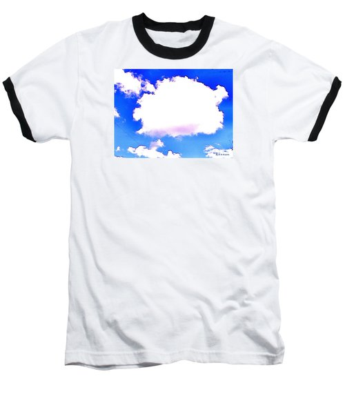 Baseball T-Shirt featuring the photograph The Little White Cloud That Cried by Sadie Reneau