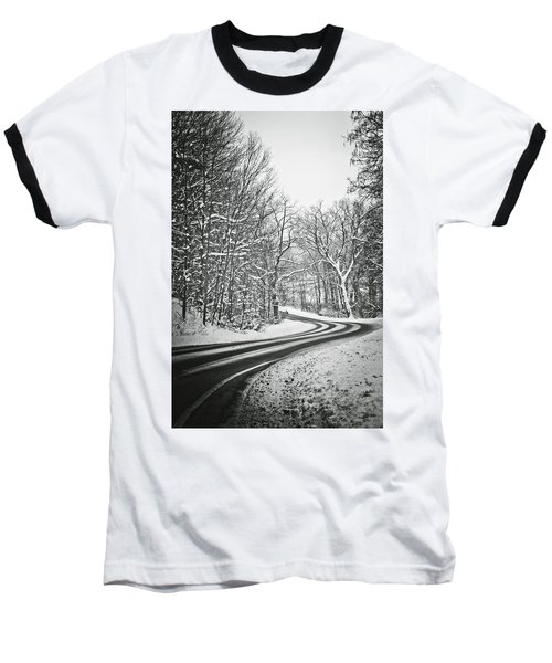 The Long Road Of Winter Baseball T-Shirt by Sara Frank