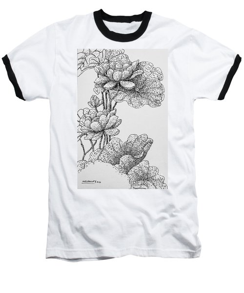 The Lotus Flower Baseball T-Shirt