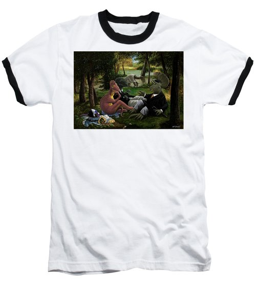The Luncheon On The Grass With Dinosaurs Baseball T-Shirt