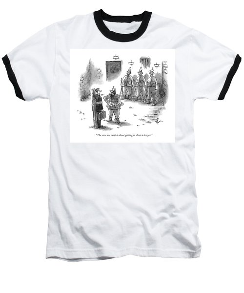 The Men Are Excited About Getting To Shoot Baseball T-Shirt