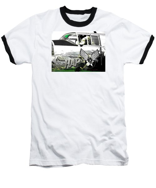 Baseball T-Shirt featuring the photograph The Miss Hap by Kathy Barney