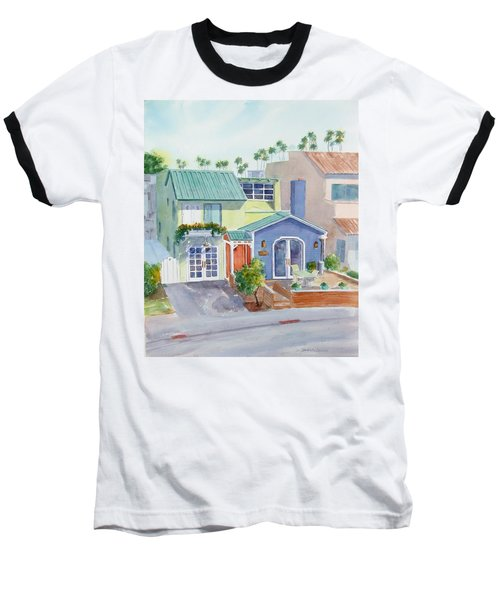 The Most Colorful Home In Belmont Shore Baseball T-Shirt by Debbie Lewis