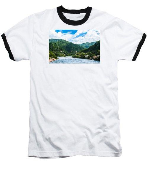 The Mountain Valley Of Rishikesh Baseball T-Shirt