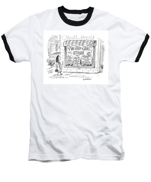 The Off-line Store Baseball T-Shirt