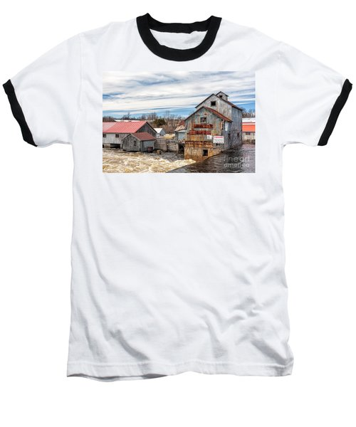 The Old Mill And The Raging River Baseball T-Shirt