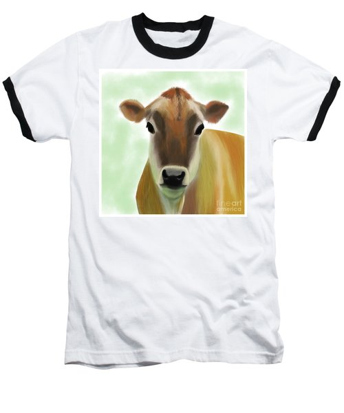 The Pretty Jersey Cow  Baseball T-Shirt
