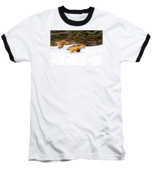The Race Is On Baseball T-Shirt by Jim Garrison