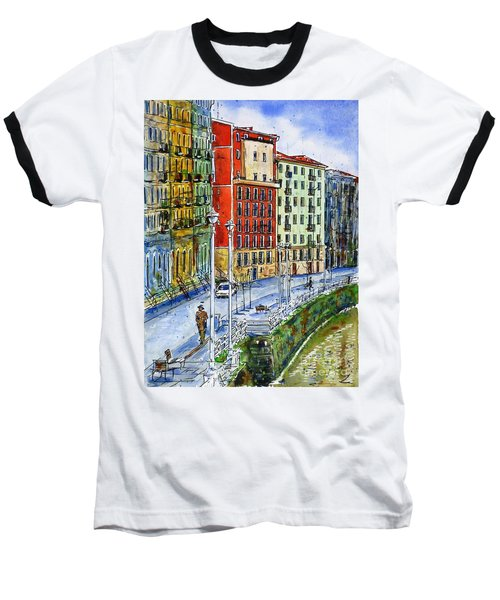 The Riverside Houses At Bilbao La Vieja Baseball T-Shirt