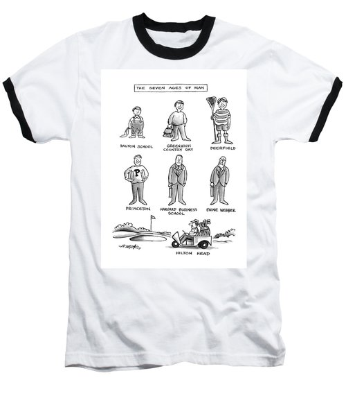 The Seven Ages Of Man Baseball T-Shirt