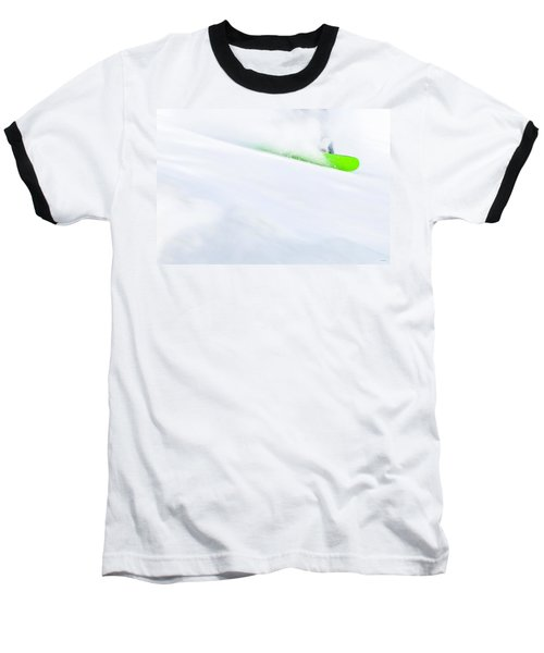 The Snowboarder And The Snow Baseball T-Shirt
