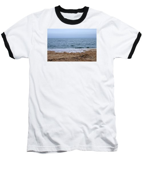 The Splash Over On A Sandy Beach Baseball T-Shirt by Eunice Miller