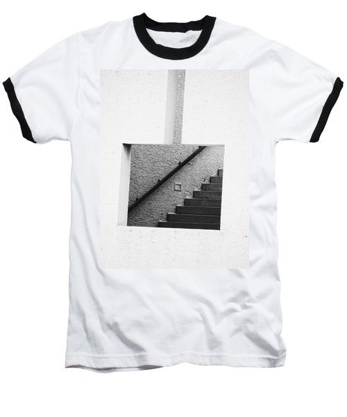 The Stairs In The Square Baseball T-Shirt by David Pantuso