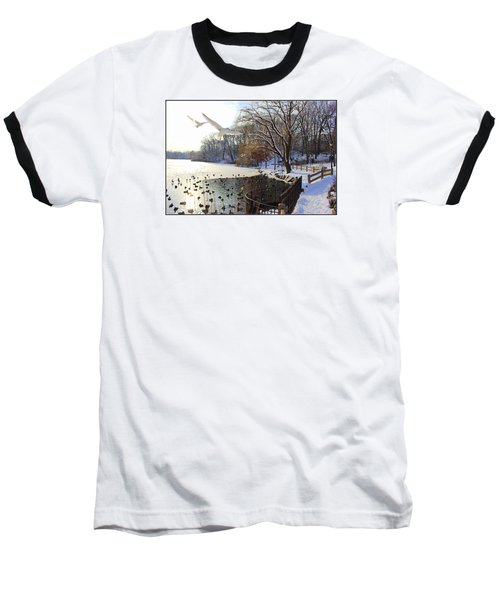 The End Of The Storm Baseball T-Shirt
