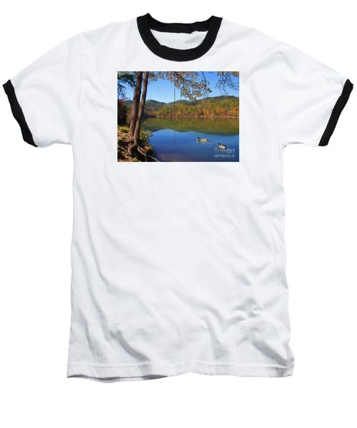 The Swimming Hole Baseball T-Shirt by Lena Auxier