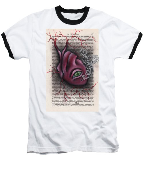 The Tell Tale Heart Baseball T-Shirt by Abril Andrade Griffith