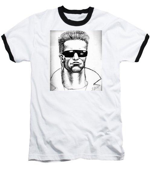 Arnold Schwarzenegger Baseball T-Shirt by Salman Ravish