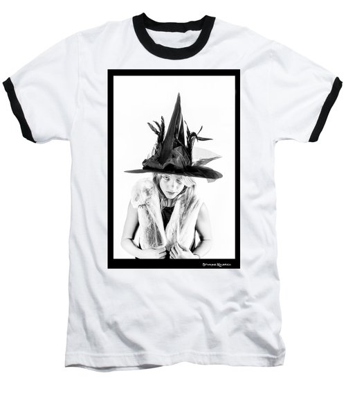 Baseball T-Shirt featuring the photograph The Tiny Witch by Stwayne Keubrick