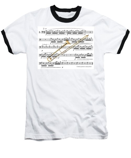 The Trombone Baseball T-Shirt by Ron Davidson