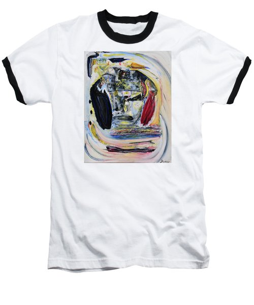 Baseball T-Shirt featuring the painting The Vision Of Ironstar by Kicking Bear  Productions