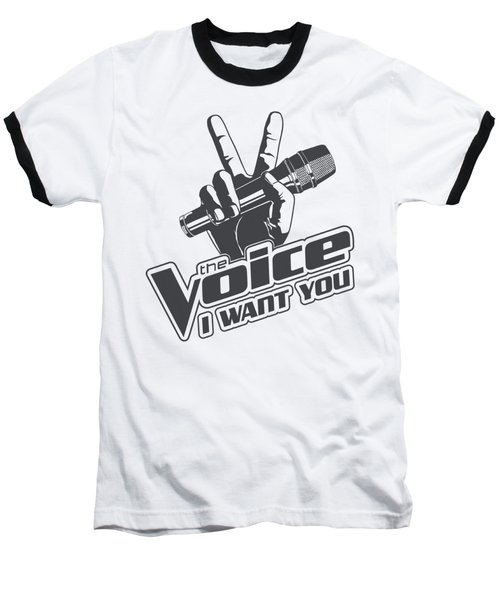 The Voice - One Color Logo Baseball T-Shirt by Brand A
