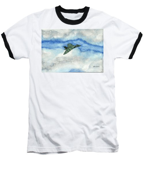 Baseball T-Shirt featuring the painting The Vulcan Bomber by John Williams