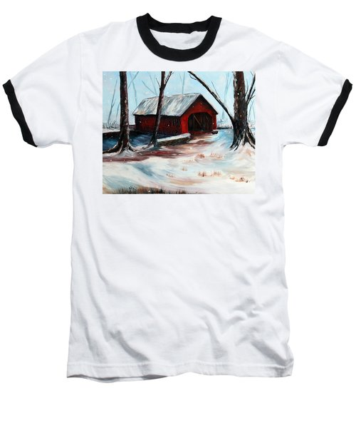 Baseball T-Shirt featuring the painting The Way Home by Meaghan Troup