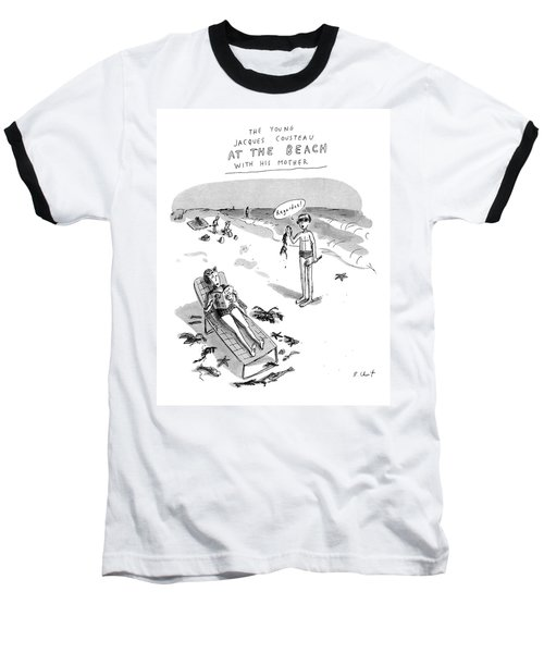 The Young Jacques Cousteau At The Beach Baseball T-Shirt