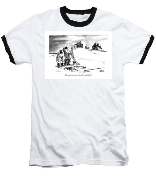 There Go The Summer People Baseball T-Shirt