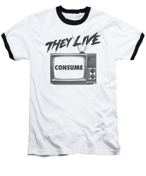 They Live - Consume Baseball T-Shirt