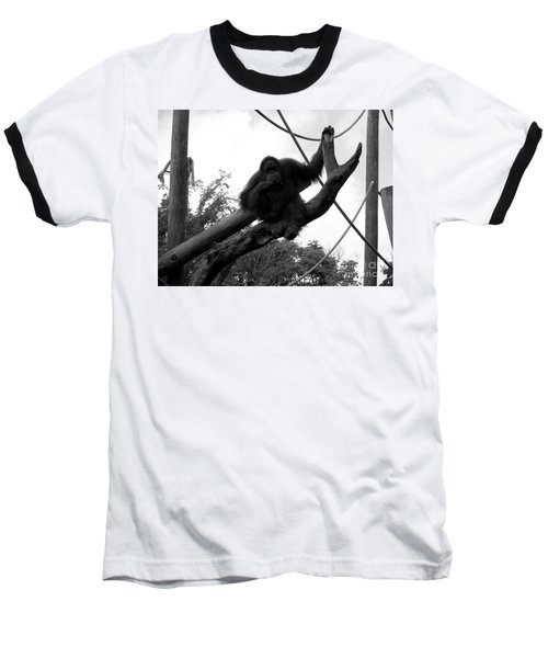 Baseball T-Shirt featuring the photograph Thinking Of You Black And White by Joseph Baril