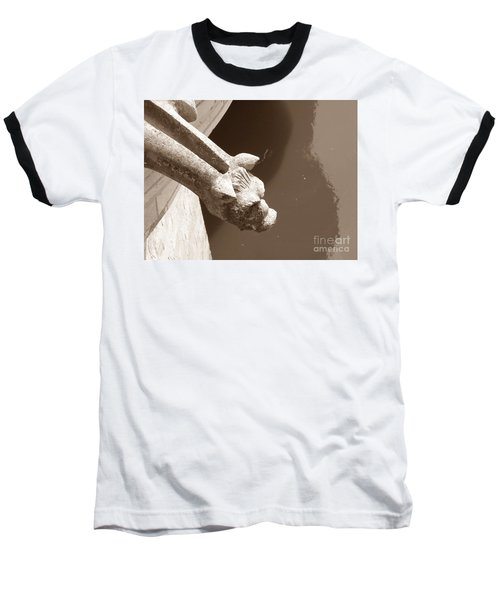 Thirsty Gargoyle - Sepia Baseball T-Shirt