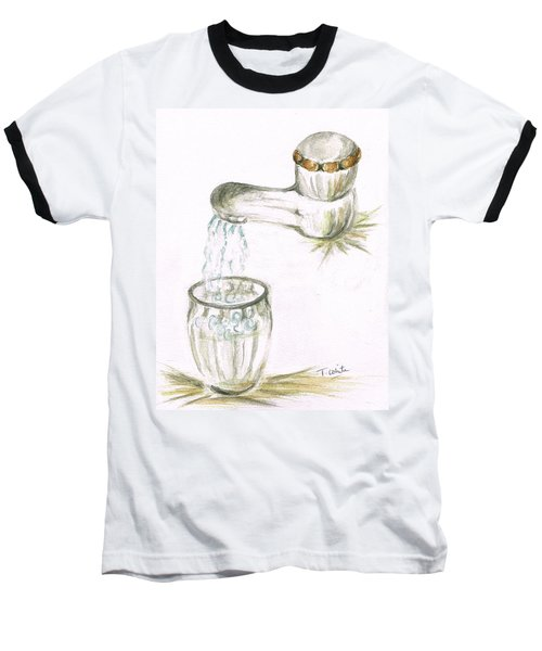 Baseball T-Shirt featuring the painting Thirsty Of Water by Teresa White
