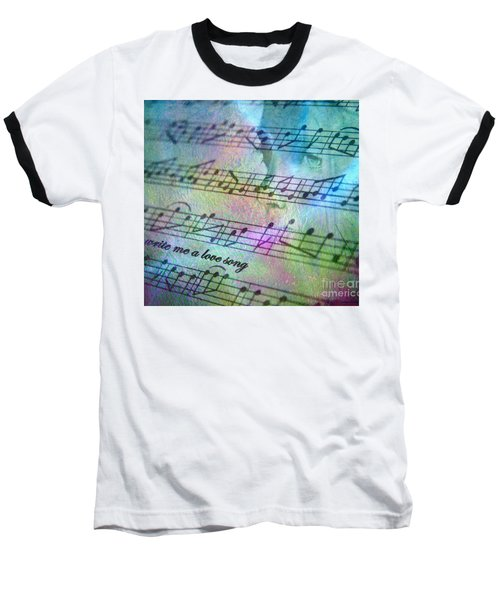 This Song's For You Baseball T-Shirt by Irma BACKELANT GALLERIES