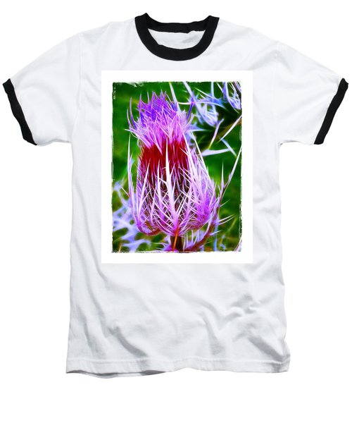 Baseball T-Shirt featuring the photograph Thistle by Judi Bagwell