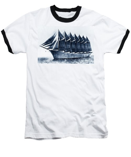 Thomas W. Lawson Seven-masted Schooner 1902 Baseball T-Shirt