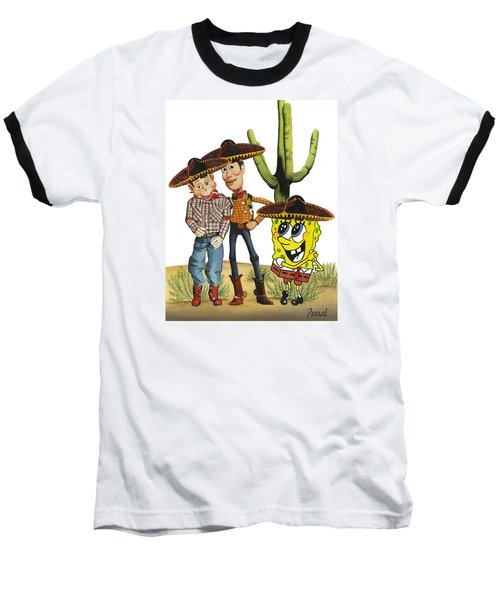 Three Amigos Baseball T-Shirt by Ferrel Cordle