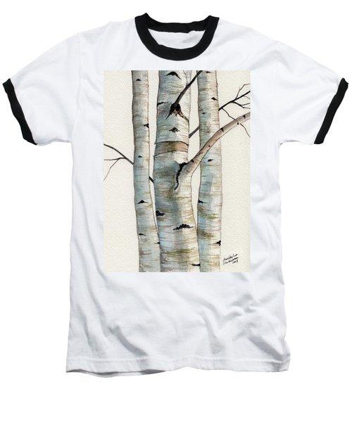 Three Birch Trees Baseball T-Shirt