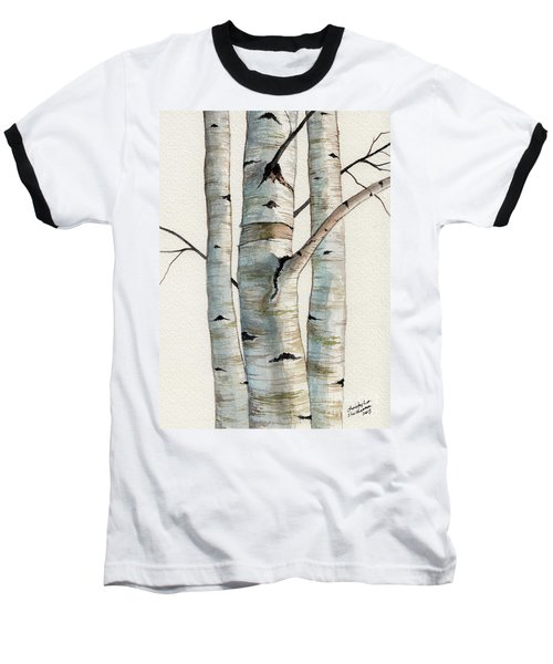 Three Birch Trees Baseball T-Shirt