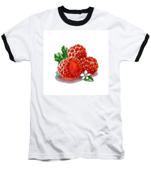 Three Happy Raspberries Baseball T-Shirt