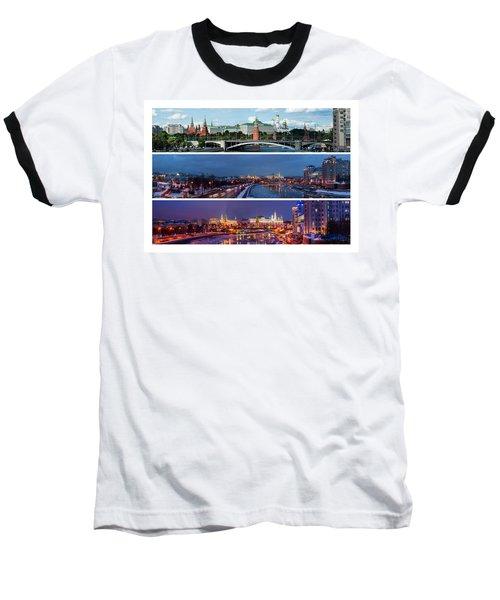Three Panoramas Of Moscow Kremlin - Featured 3 Baseball T-Shirt by Alexander Senin