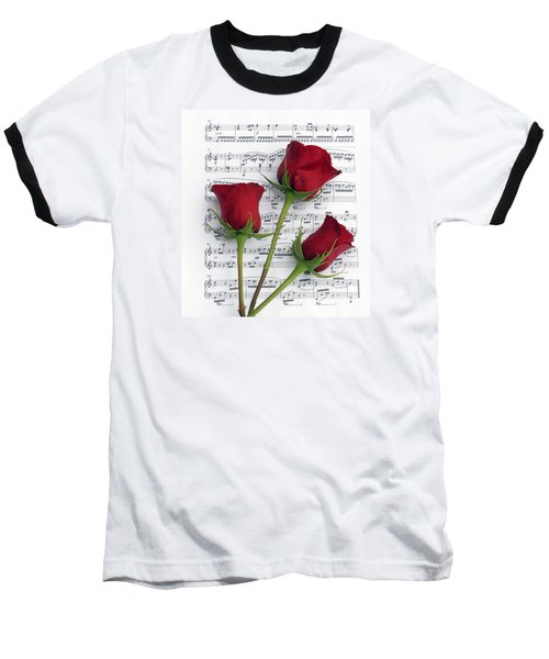 Three Rose Music Baseball T-Shirt
